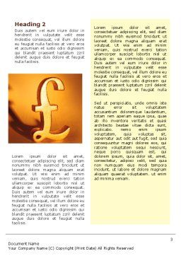 Pound Word Template, Second Inner Page, 02534, Financial/Accounting — PoweredTemplate.com
