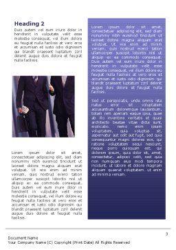 Business Talk Word Template, Second Inner Page, 02535, Business — PoweredTemplate.com