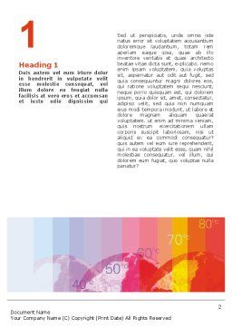 Global Warming Word Template, First Inner Page, 02536, Nature & Environment — PoweredTemplate.com