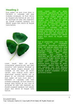 Clover Word Template, Second Inner Page, 02538, Agriculture and Animals — PoweredTemplate.com