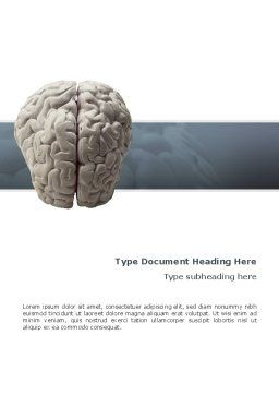 Brain In Gray Word Template, Cover Page, 02541, Medical — PoweredTemplate.com