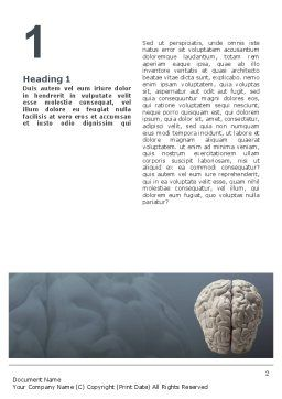 Brain In Gray Word Template, First Inner Page, 02541, Medical — PoweredTemplate.com