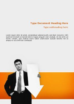 Dissatisfaction Word Template, Cover Page, 02542, Consulting — PoweredTemplate.com