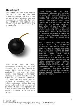 Bomb Word Template, Second Inner Page, 02546, 3D — PoweredTemplate.com