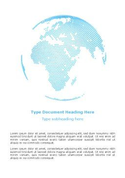 Clusters Of World Word Template Cover Page