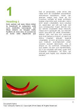 Hot Pepper Word Template, First Inner Page, 02550, Food & Beverage — PoweredTemplate.com