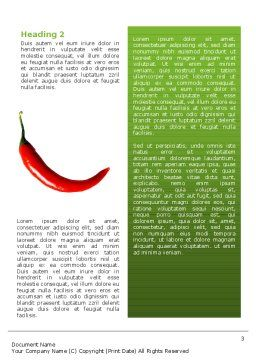 Hot Pepper Word Template, Second Inner Page, 02550, Food & Beverage — PoweredTemplate.com
