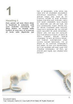 Helpline Word Template, First Inner Page, 02551, Telecommunication — PoweredTemplate.com