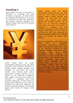 Yen Word Template, Second Inner Page, 02552, Financial/Accounting — PoweredTemplate.com