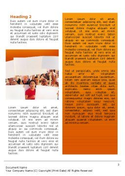 Protest Word Template, Second Inner Page, 02553, People — PoweredTemplate.com