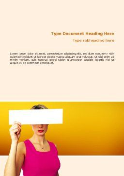 Confidential Word Template, Cover Page, 02554, Consulting — PoweredTemplate.com