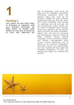 Star Fish Word Template, First Inner Page, 02556, Agriculture and Animals — PoweredTemplate.com
