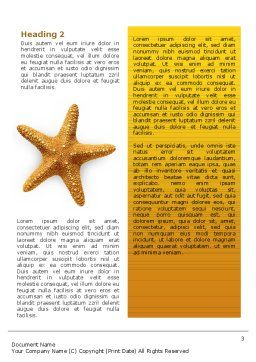 Star Fish Word Template, Second Inner Page, 02556, Agriculture and Animals — PoweredTemplate.com