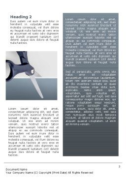Scissors Word Template, Second Inner Page, 02557, Business Concepts — PoweredTemplate.com
