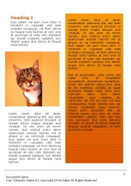 Curious Cat Word Template Second Inner Page