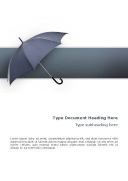Umbrella Word Template, Cover Page, 02562, Business Concepts — PoweredTemplate.com