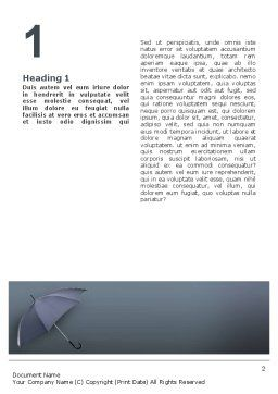 Umbrella Word Template, First Inner Page, 02562, Business Concepts — PoweredTemplate.com