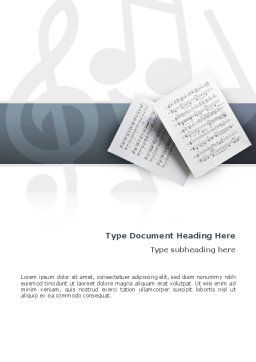 Printed Music Word Template Cover Page