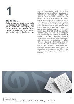Printed Music Word Template First Inner Page