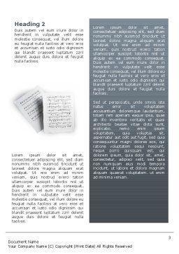 Printed Music Word Template Second Inner Page