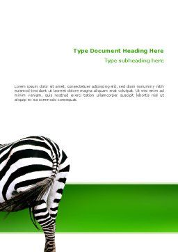 Zebra Word Template, Cover Page, 02564, Abstract/Textures — PoweredTemplate.com