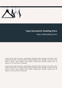 Clothes Hangers Word Template, Cover Page, 02565, Business Concepts — PoweredTemplate.com