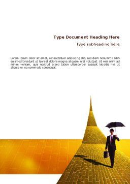 Dream Land Word Template, Cover Page, 02566, Business — PoweredTemplate.com