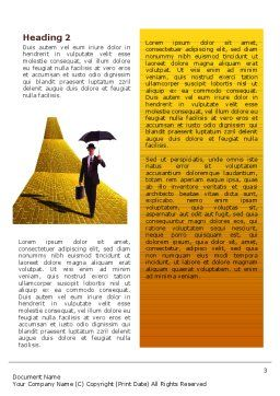 Dream Land Word Template, Second Inner Page, 02566, Business — PoweredTemplate.com
