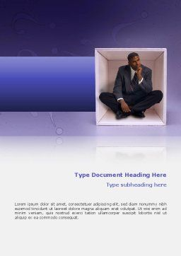 Thinking Word Template, Cover Page, 02571, Consulting — PoweredTemplate.com