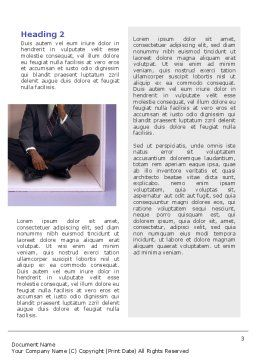 Thinking Word Template, Second Inner Page, 02571, Consulting — PoweredTemplate.com