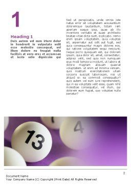 Lotto Balls Word Template First Inner Page