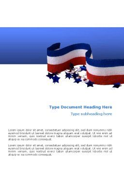 Federal Colors Word Template, Cover Page, 02576, America — PoweredTemplate.com