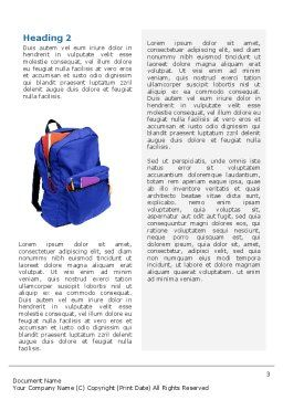 School Backpack Word Template, Second Inner Page, 02577, Education & Training — PoweredTemplate.com