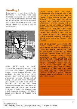 Communication Technology Word Template Second Inner Page