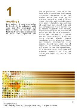Computer Pixel Design Word Template, First Inner Page, 02580, Abstract/Textures — PoweredTemplate.com
