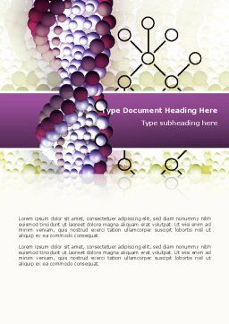 DNA On A Violet Word Template, Cover Page, 02581, Medical — PoweredTemplate.com
