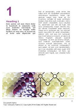 DNA On A Violet Word Template, First Inner Page, 02581, Medical — PoweredTemplate.com