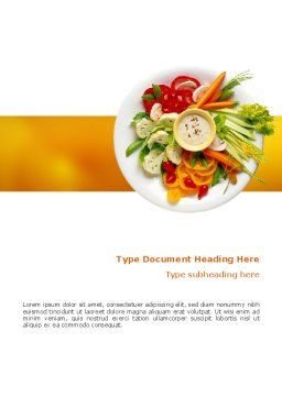 Vegetarian Food Word Template Cover Page