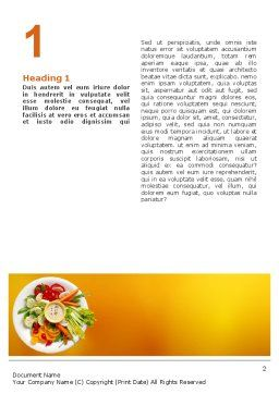 Vegetarian Food Word Template, First Inner Page, 02582, Food & Beverage — PoweredTemplate.com