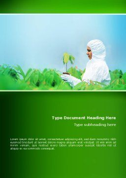 Green Plant Breeding Word Template, Cover Page, 02586, Technology, Science & Computers — PoweredTemplate.com