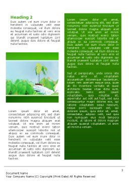 Green Plant Breeding Word Template, Second Inner Page, 02586, Technology, Science & Computers — PoweredTemplate.com