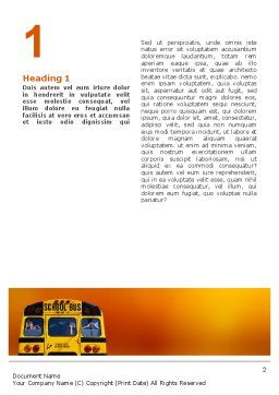 School Bus Aft Word Template, First Inner Page, 02587, Education & Training — PoweredTemplate.com