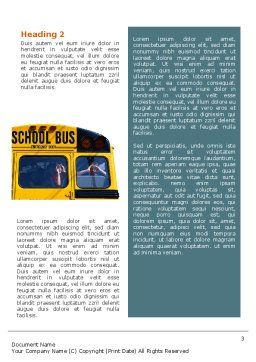 School Bus Aft Word Template, Second Inner Page, 02587, Education & Training — PoweredTemplate.com