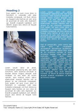 Skeletal Foot Word Template, Second Inner Page, 02589, Medical — PoweredTemplate.com