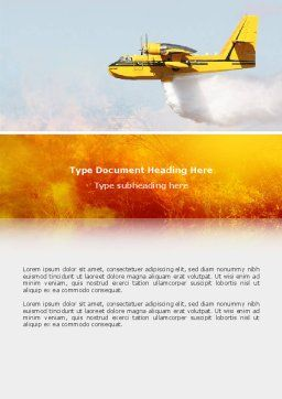 Fire In The Forest Word Template, Cover Page, 02590, Nature & Environment — PoweredTemplate.com