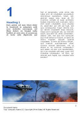 Wildfire Word Template, First Inner Page, 02591, Cars/Transportation — PoweredTemplate.com
