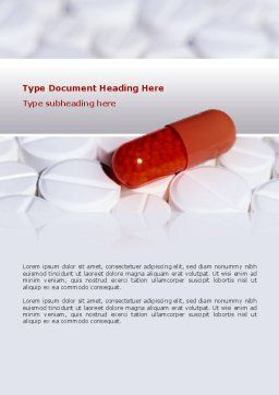 Medication Word Template, Cover Page, 02592, Medical — PoweredTemplate.com