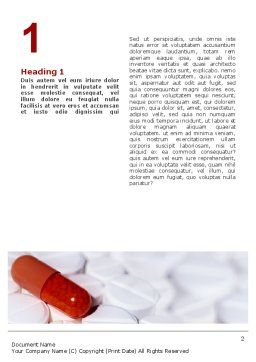 Medication Word Template, First Inner Page, 02592, Medical — PoweredTemplate.com