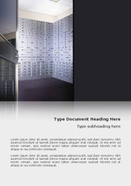 Safe Deposit Boxes Word Template Cover Page
