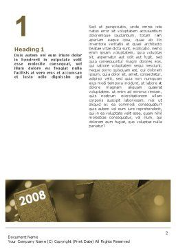 Year 2008 In Domino Word Template, First Inner Page, 02594, Business Concepts — PoweredTemplate.com